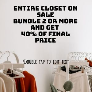 Bundle 2 or more items and get 40%